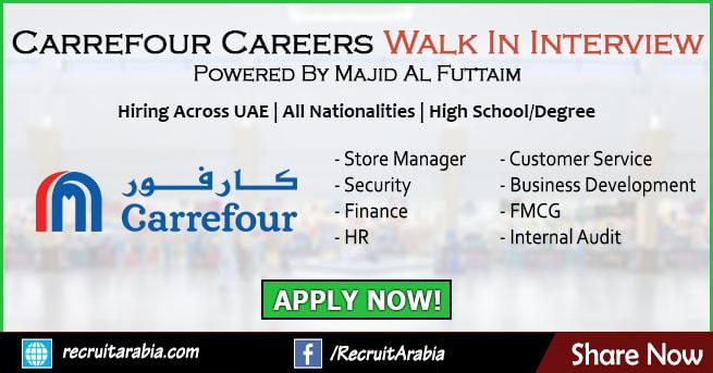 Carrefour Careers 2021 New Jobs in UAE